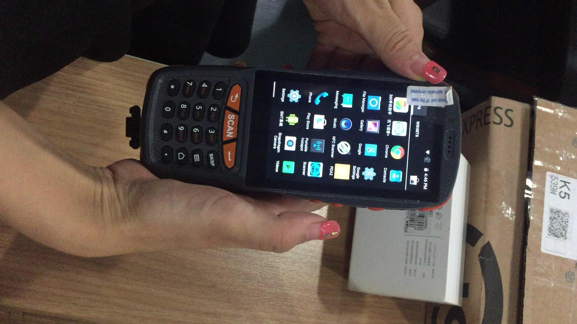 Endüstriyel Sağlam Bluetooth 4G GPS pda wifi el terminali cihazı kablosuz pda barkod tarayıcı android
