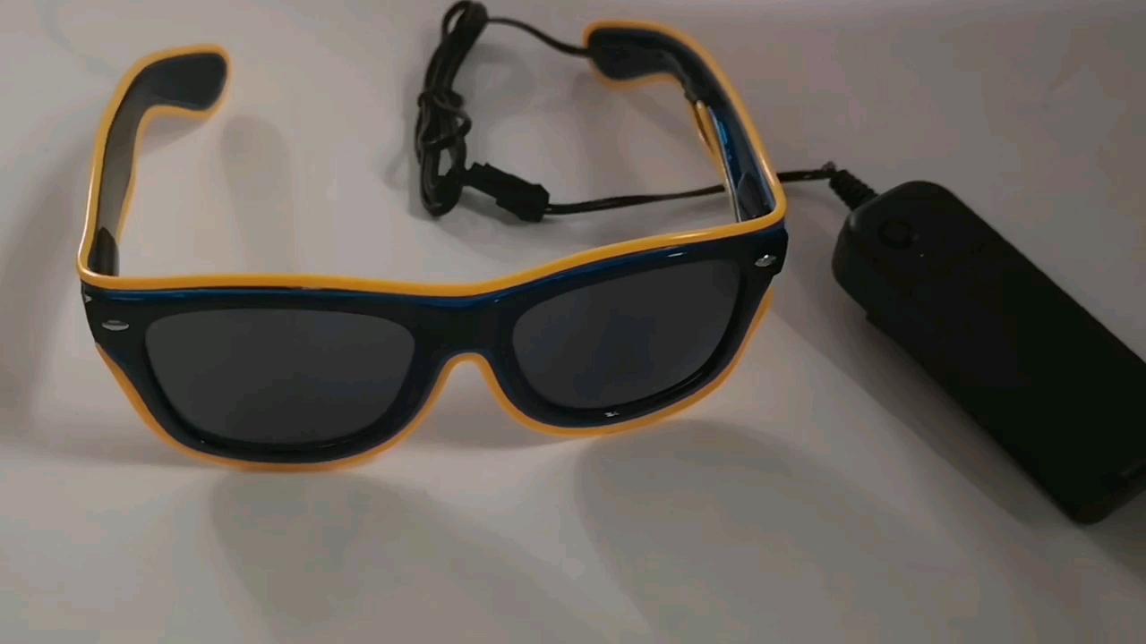 Fashion best led rave glasses el equalizer wire glasses 2019 hot selling el product