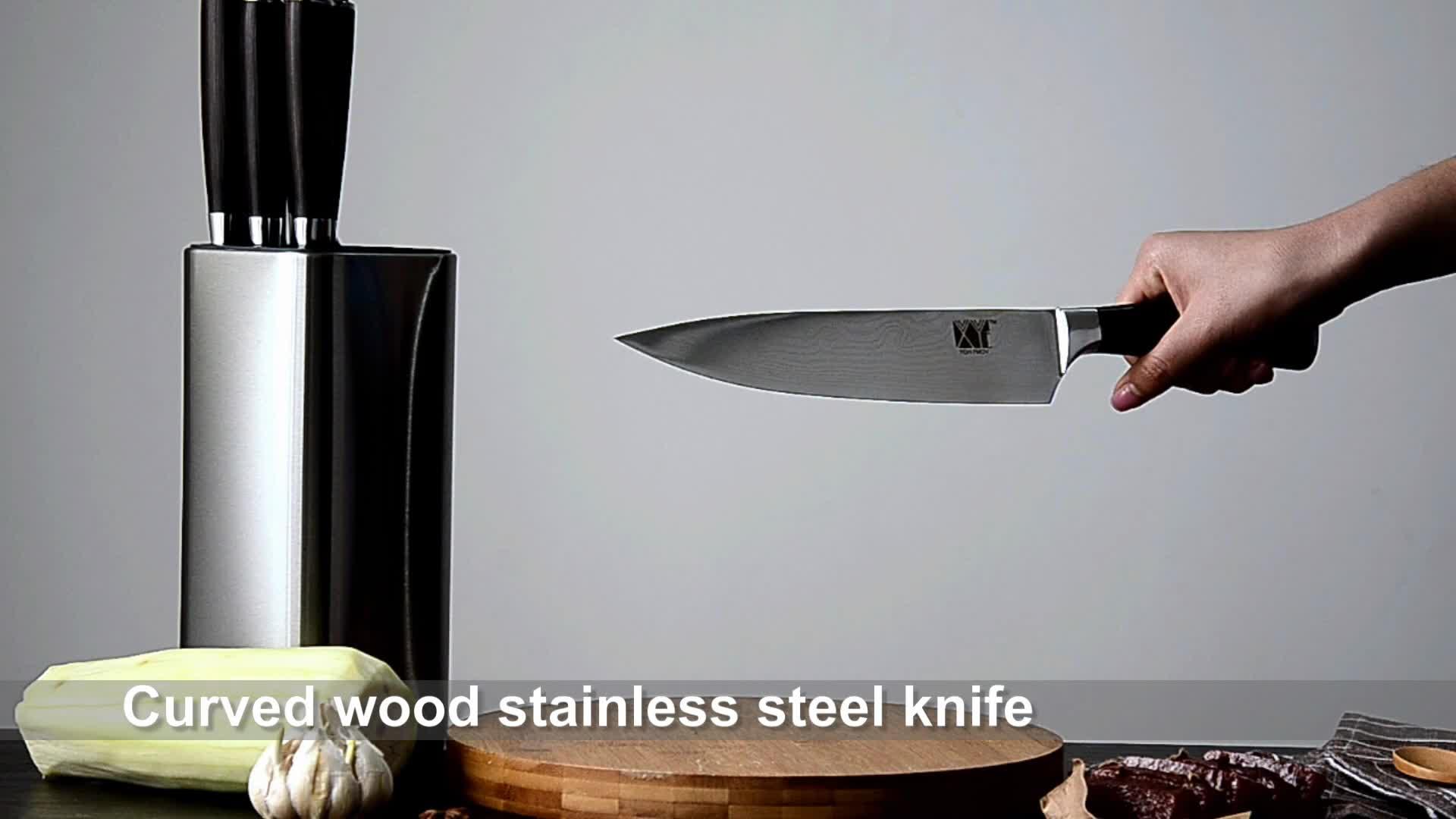 Aço inoxidável Standars Aço Inoxidável 440C Chef De Aço Inoxidável faca de 8 Polegada Yangjiang XYj Facas De Cozinha Fábrica