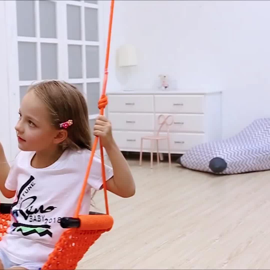 Hot selling indoor swing chair children garden swing hanging outdoor kids swings for Tree Indoor Playground Background