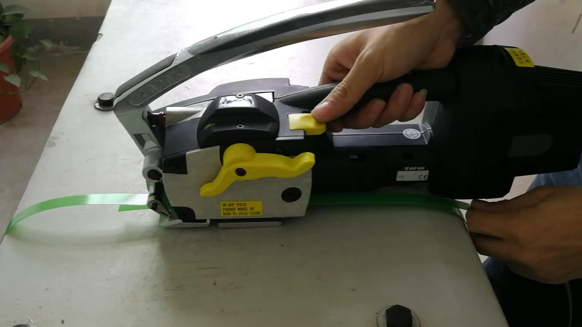 Ferramenta de cintar de plástico a bateria de taiwan zapak zp97a