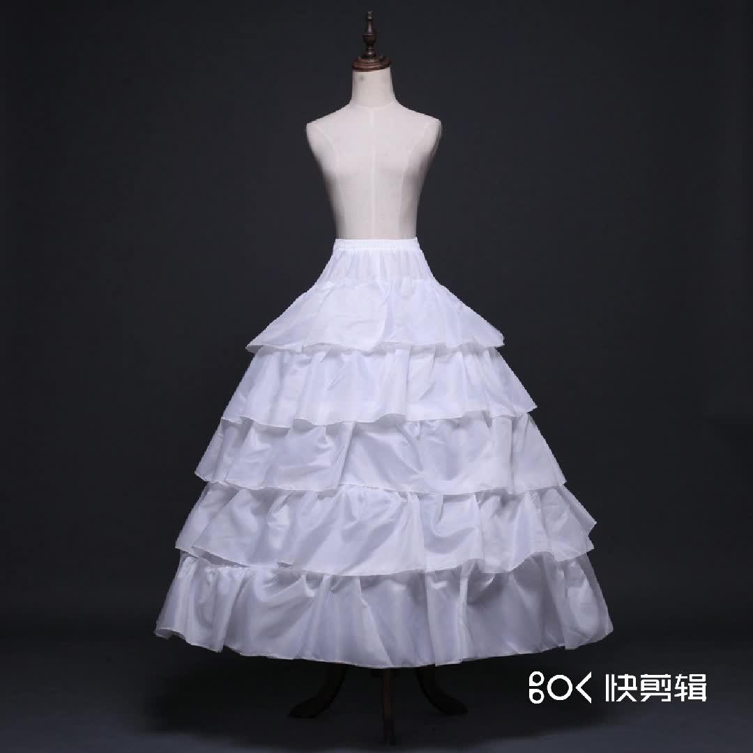 Wholesale 6 hoop crinoline bride wedding underskirt dress girls under skirt dress