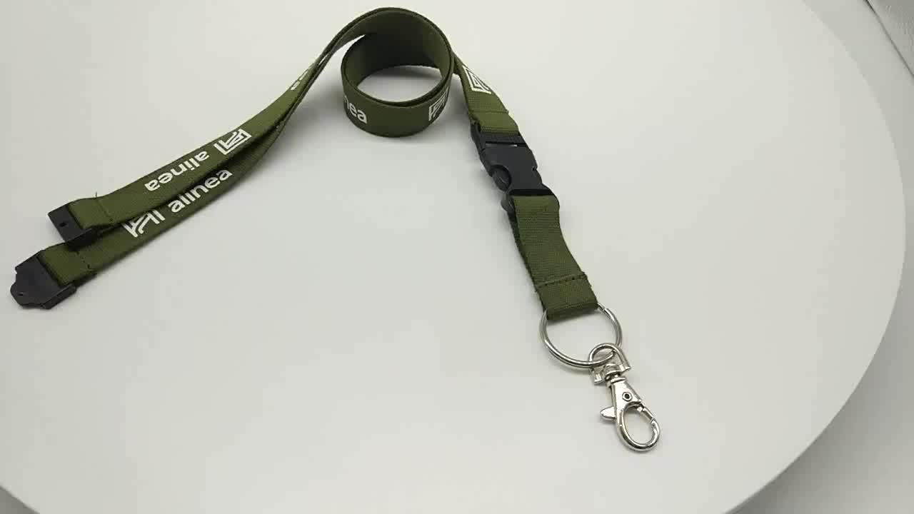 Custom printing Logo cell phone lanyard with safety lock strap neck