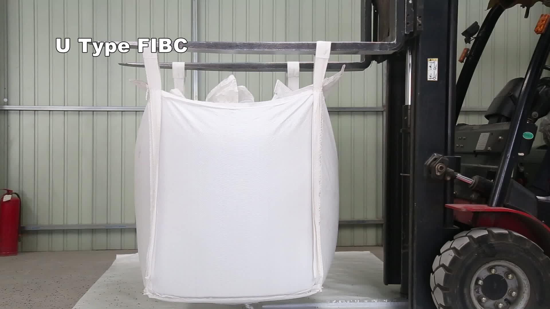 卸売 PPJumbo バッグ 1ton ビッグバッグ pp スクラップ 1000 キロバルクバッグ下最高価格高品質のためのパッキング