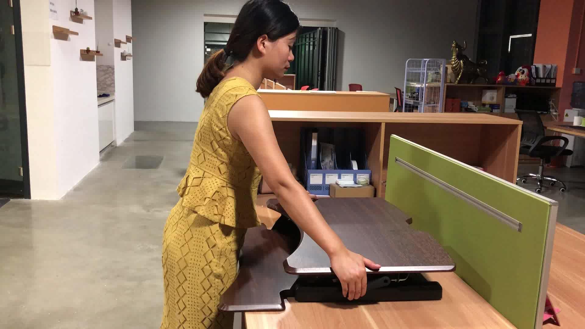 Sedersi a Stare in Piedi Molla A Gas da tavolo del computer Riser Regolabile in Altezza In Piedi Scrivania Convertitore