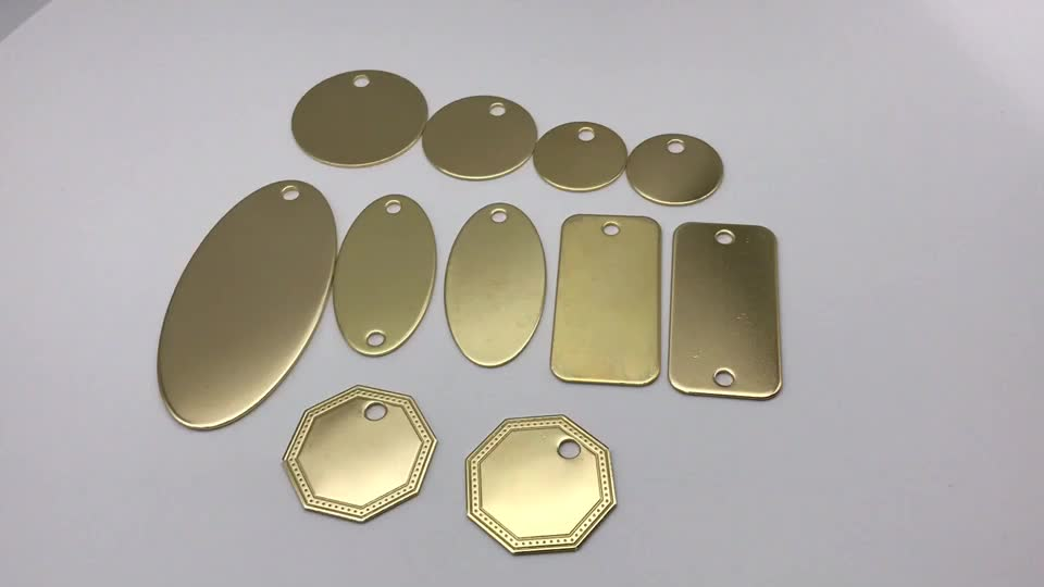 Custom Made Precision Logo Copper , Brass , Metal Labels / Tag For Clothing
