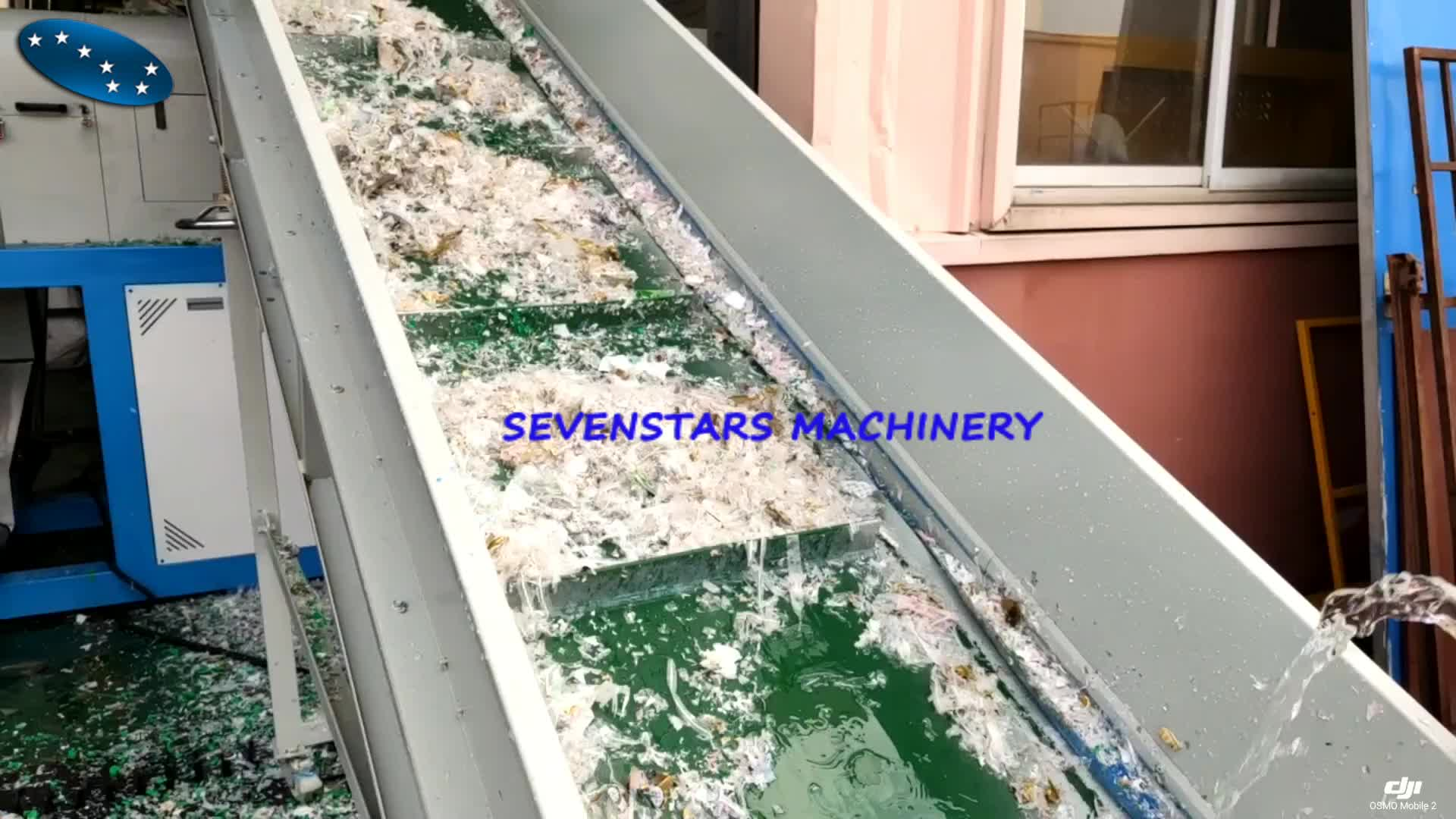 waste woven bags washing and dewatering and squeezing squeezer unit
