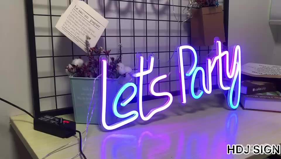 Hdjsign 60Cm x 30 Centímetros Rgb Fullcolor 12V Ajustável Transparente Acrílico Deixa o Partido Flex Led Neon Sinal de Luz ins Wall Decor