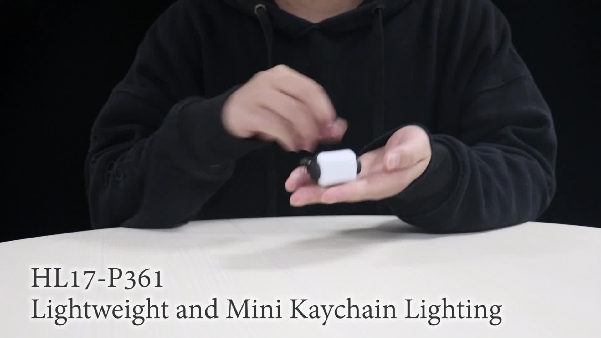 Mini Logo Plastic EDC Keychain Flashlight For Camping