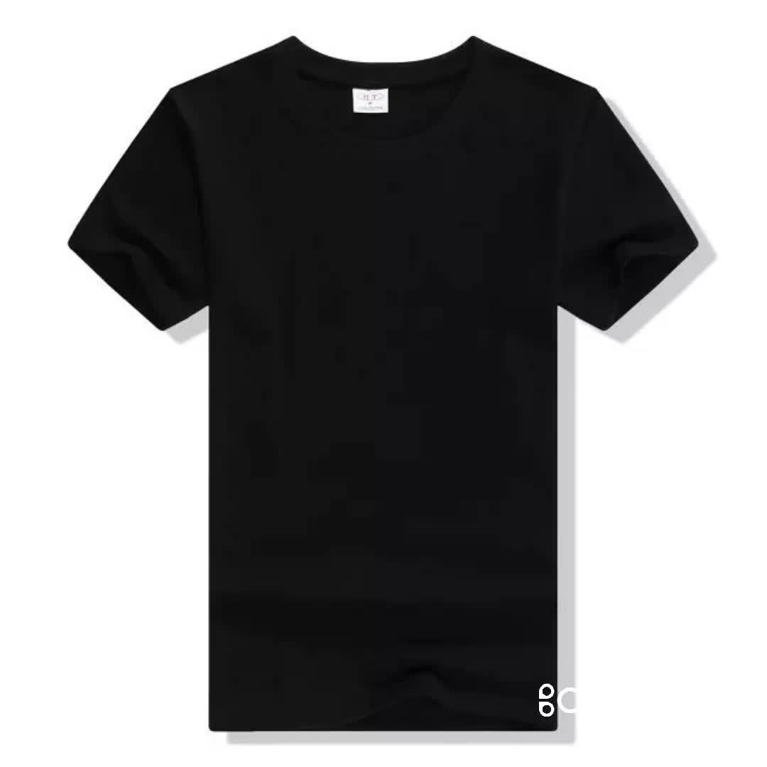 Wholesale 50% Cotton 50%polyester short sleeve oem logo custom design plain blank cotton t shirt tshirt