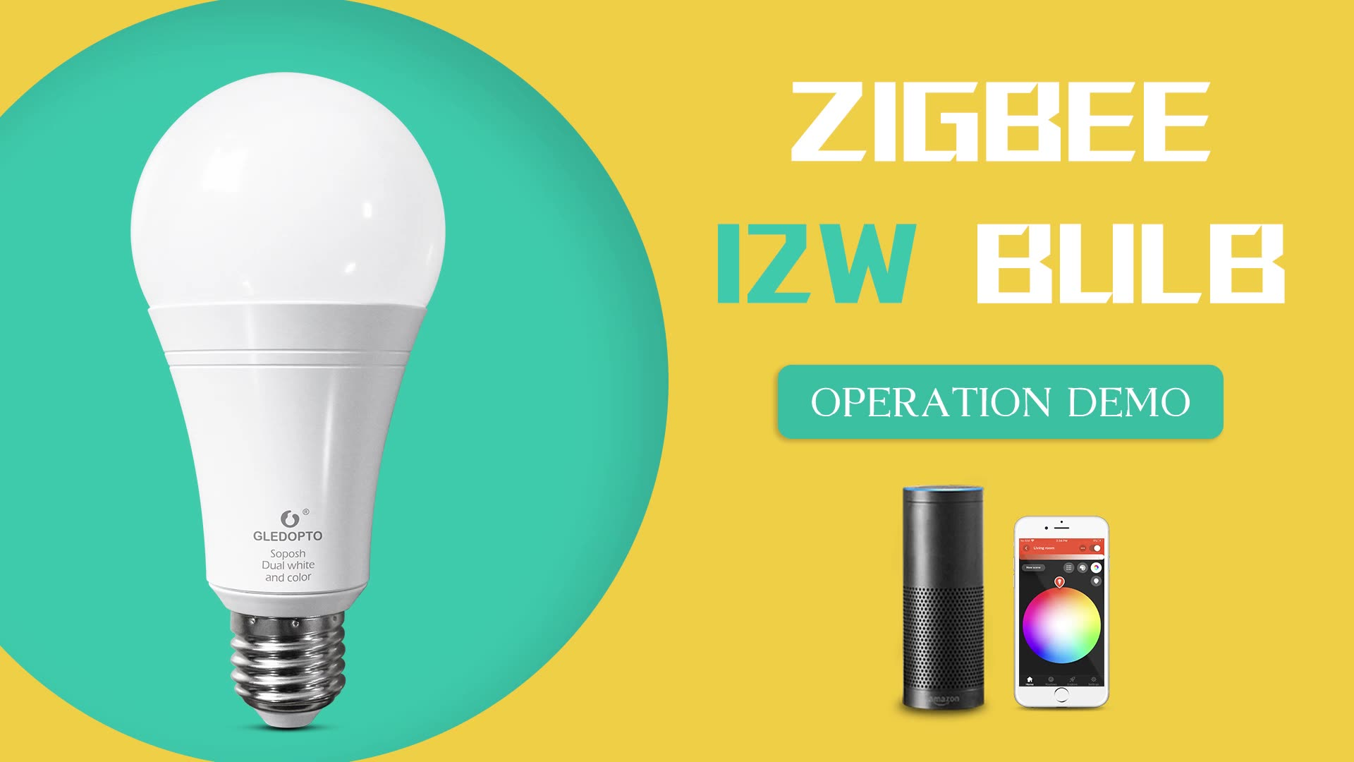 zigbee compatible Wireless lighting RGB CCT dimmable bulbs for home or commercial building