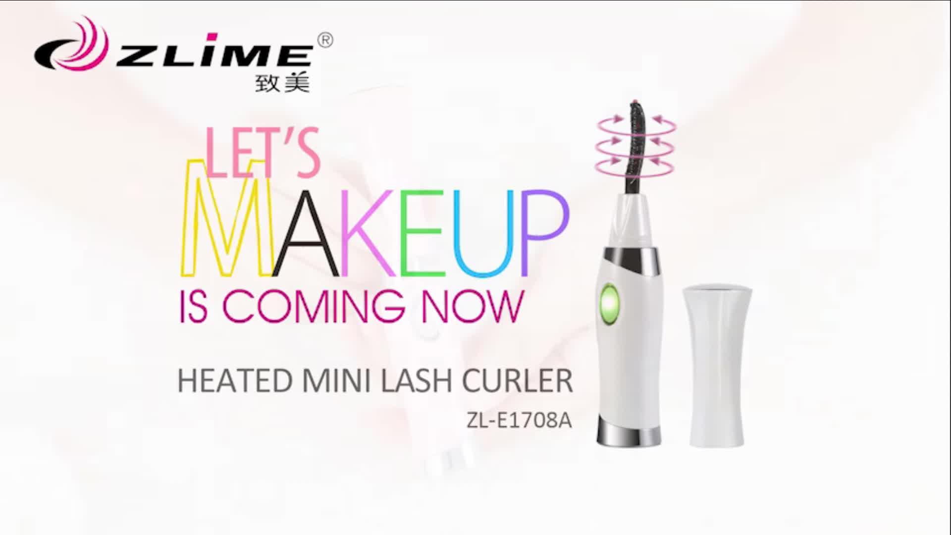 ZlimeBeauty Mini Elektrische Wimpers Curler Automatische Langdurige Verwarmde Wimper Make-Up Kit Curler