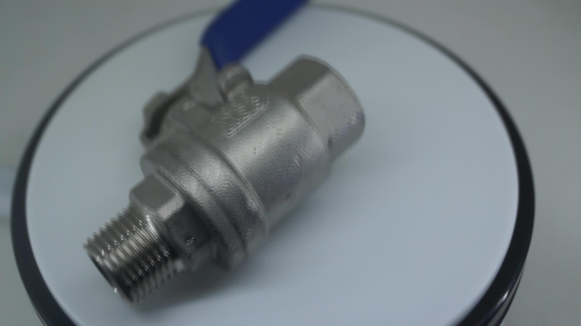 Stainless steel hose full bore trunnion gas pipeline 2pc ball valve