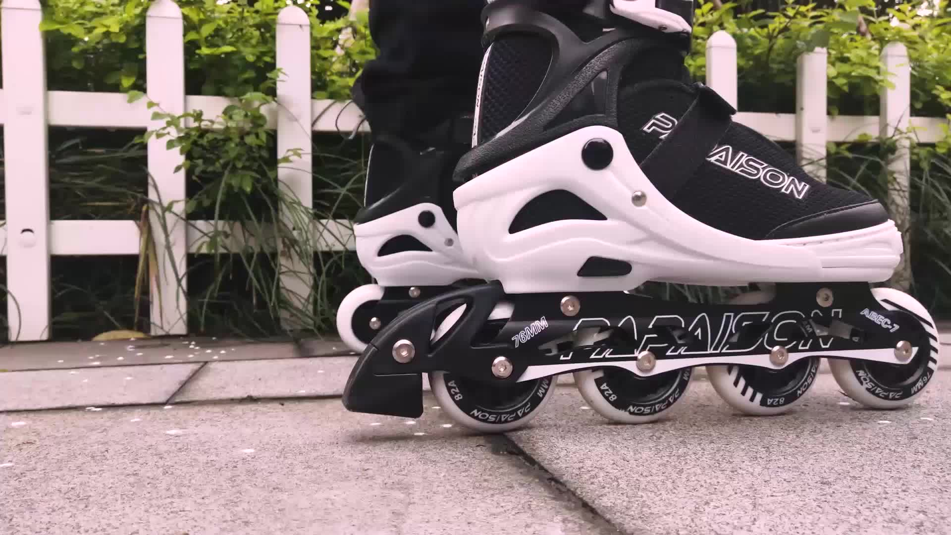 Papaison Roller skates with CE report export to USA can sale inline skate on Amazon with pink red black blue color have XL size