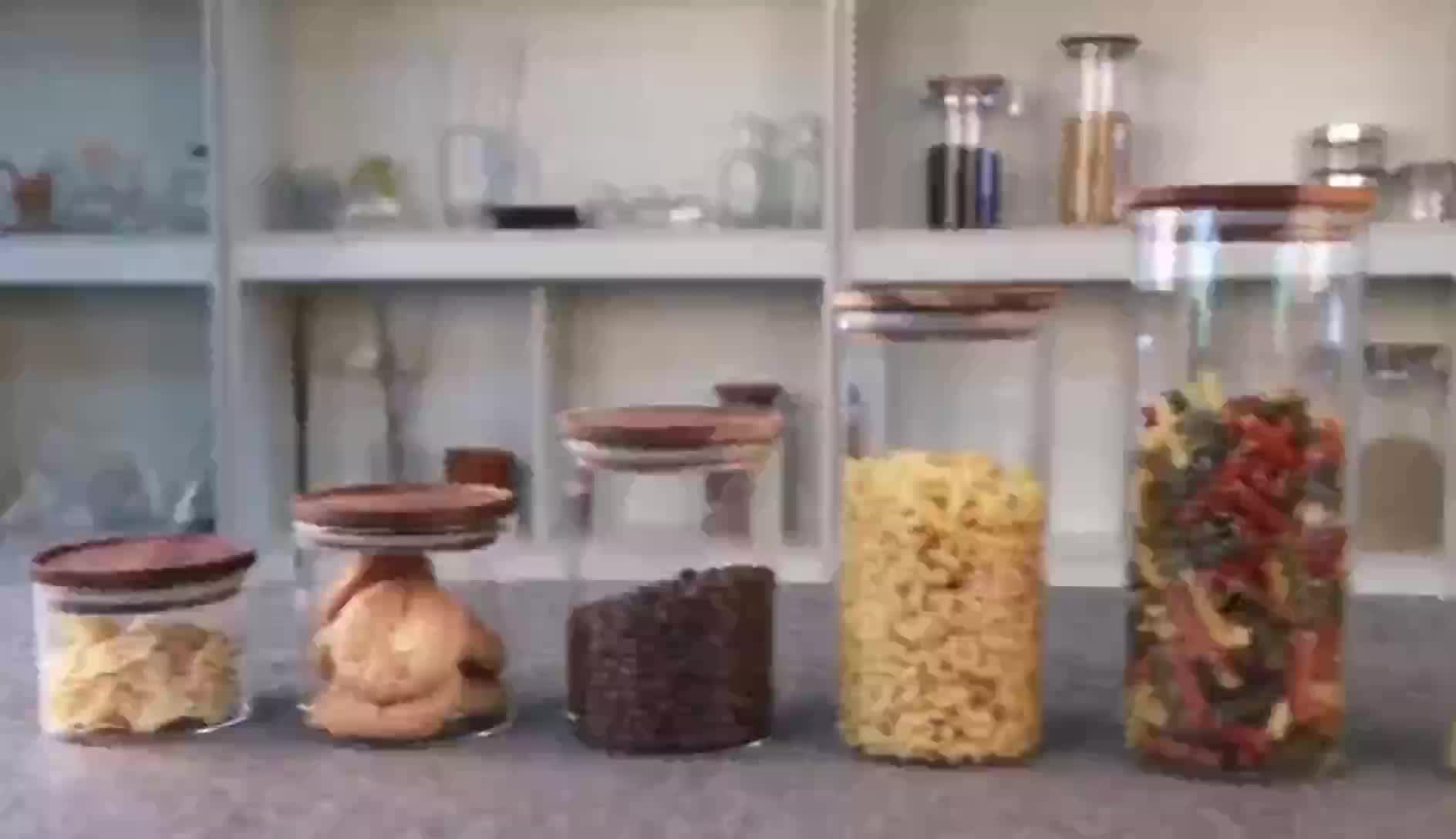 Wholesale high borosilicate glass sealed cans storage jars