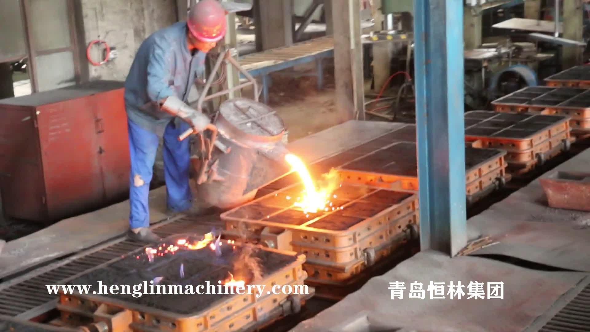 Rögar Kapağı için Çin Dökümhane Otomatik Yeşil Kum Döküm Makinesi