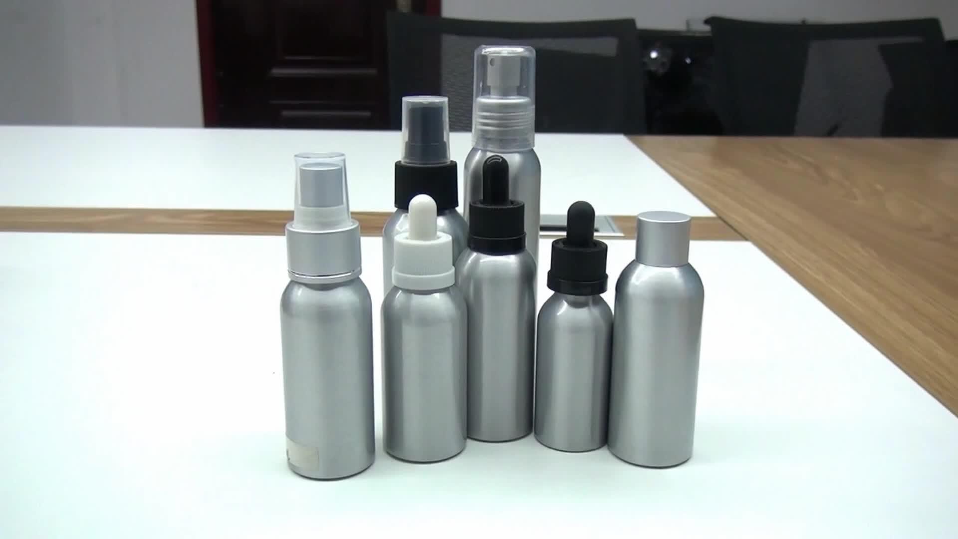 Wholesale 50 Ml 100 Ml 250 Ml 500 Ml 1000 Ml 1L Aluminium Botol Minyak Esensial dengan Tear-Off Cap