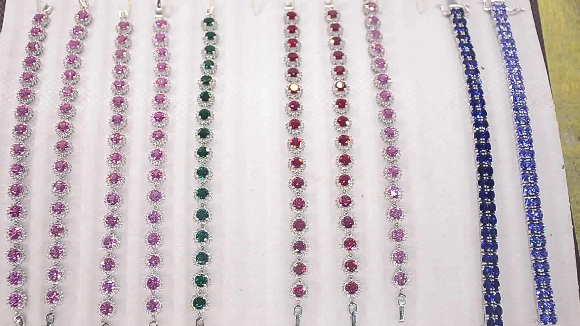 Luxury 15 Carats Blue Sapphire Women 925 Sterling Silver Tennis Bracelet