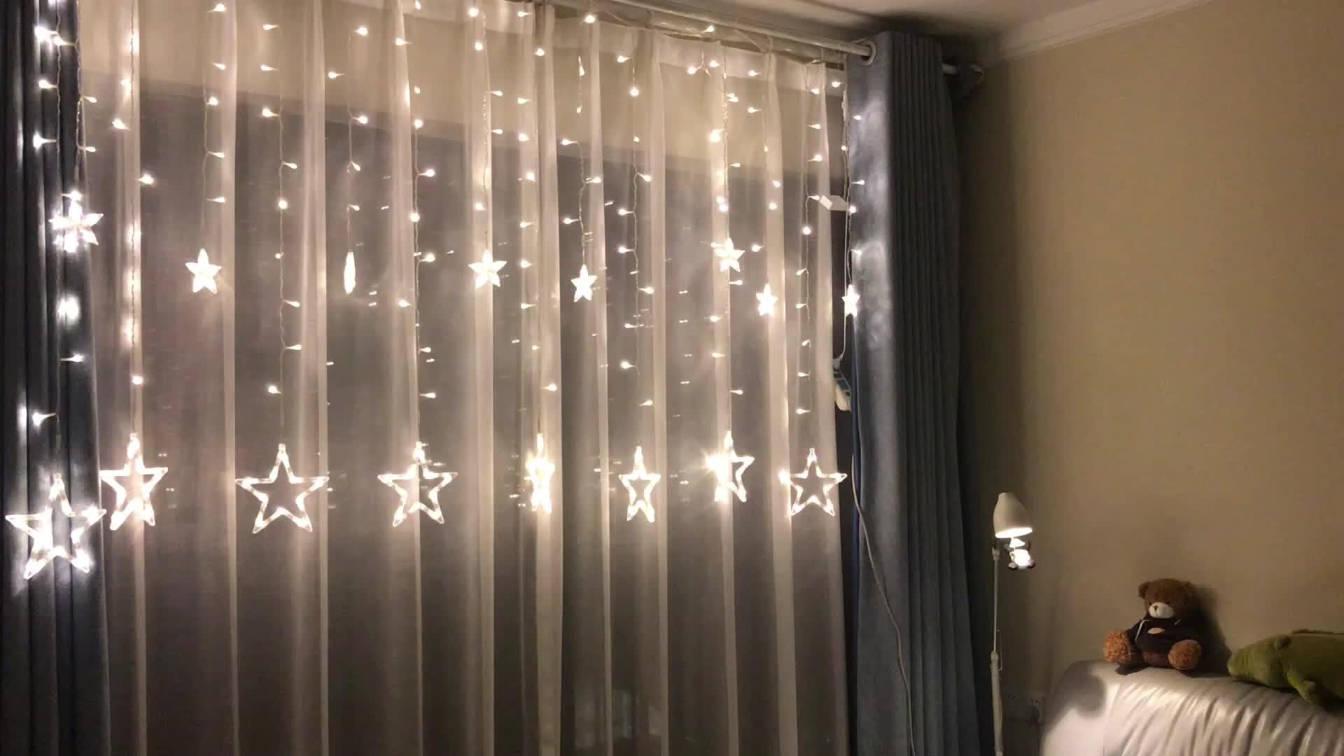 RGB Twinkling Stars Lichterkette für Hochzeitshintergrund