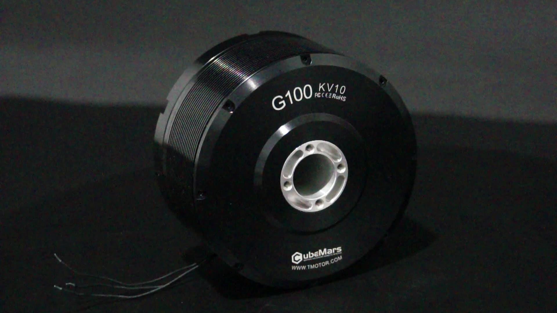 T-MOTOR G100 KV10 fırçasız dc motor 24V motor LIDAR mini motor için içi boş mil ile Gimbal sistemi