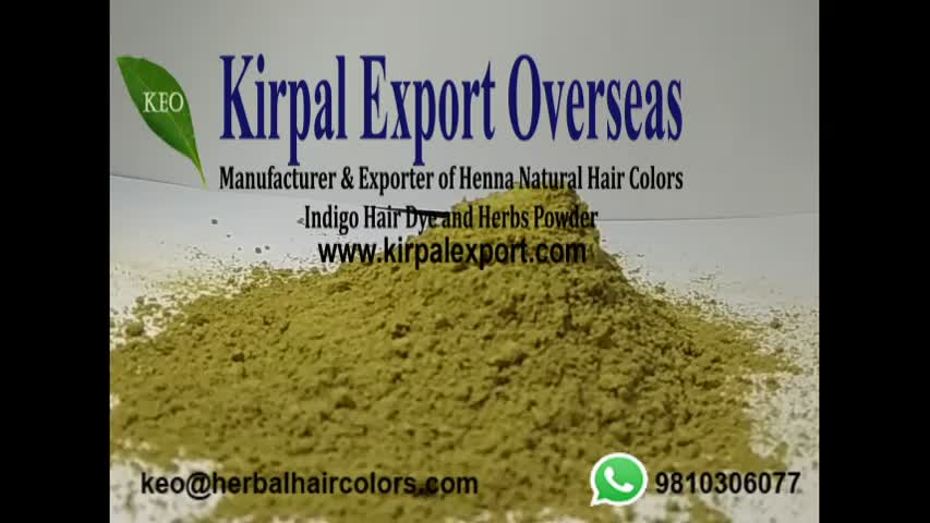 Herbal henna semi permanent hair colors in bulk packing