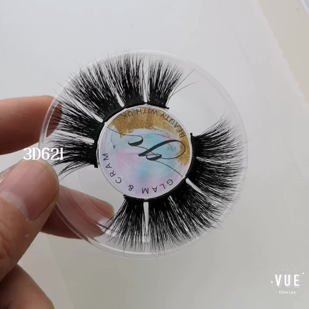 Messy Volume Fluffy Long Hot Thick Fake Eyelashes Real Mink Eyelashes 3D