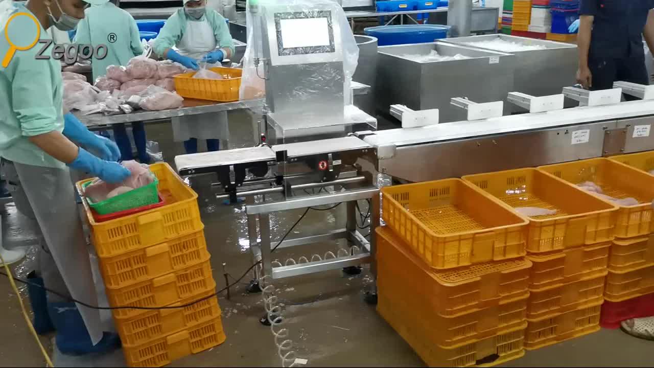 A prueba de humedad peso sistema de clasificación de tipo máquina de pesaje pangasius filete