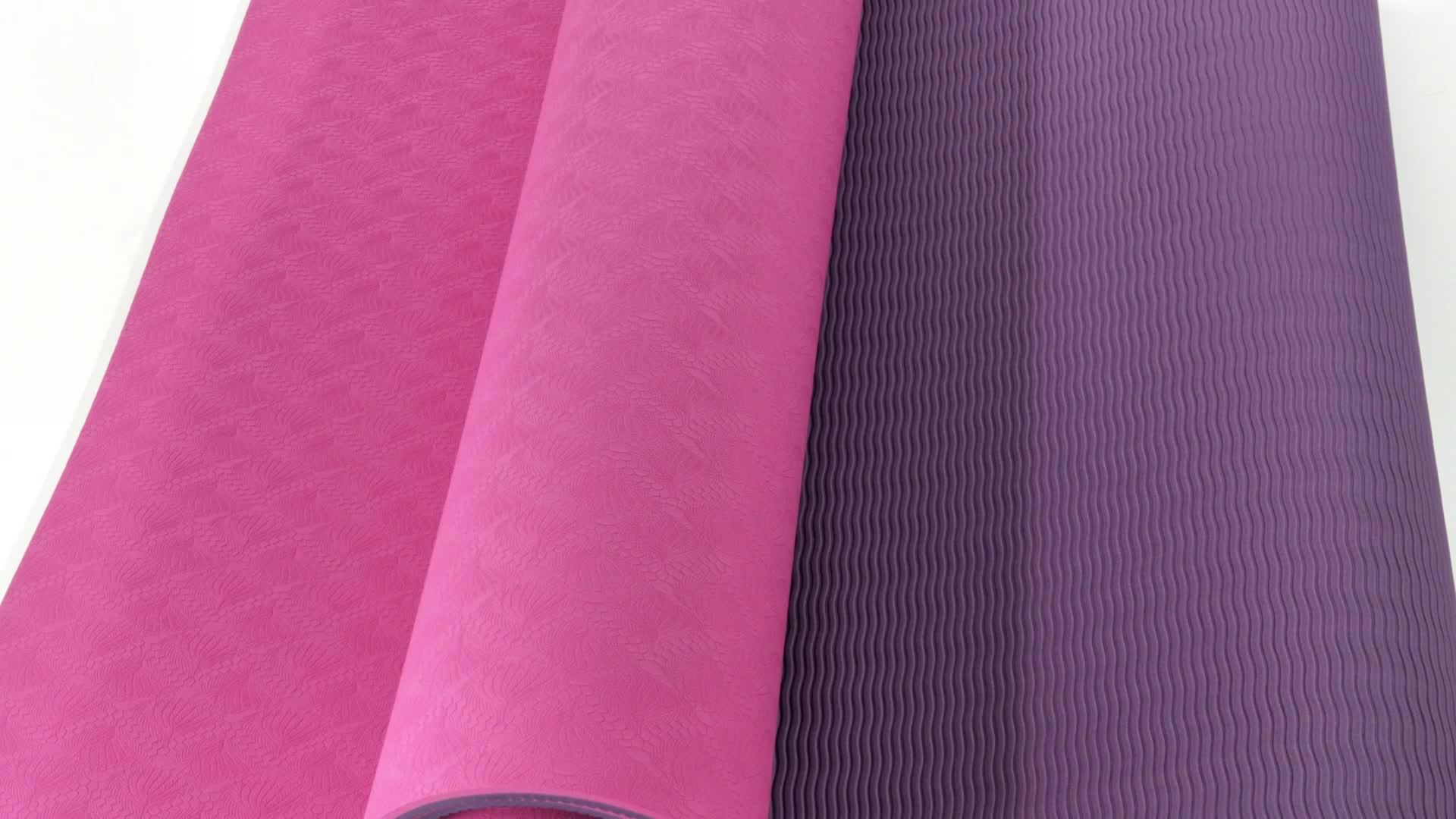 Personalizzato viaggi sostenibili modello pilates stuoia di yoga
