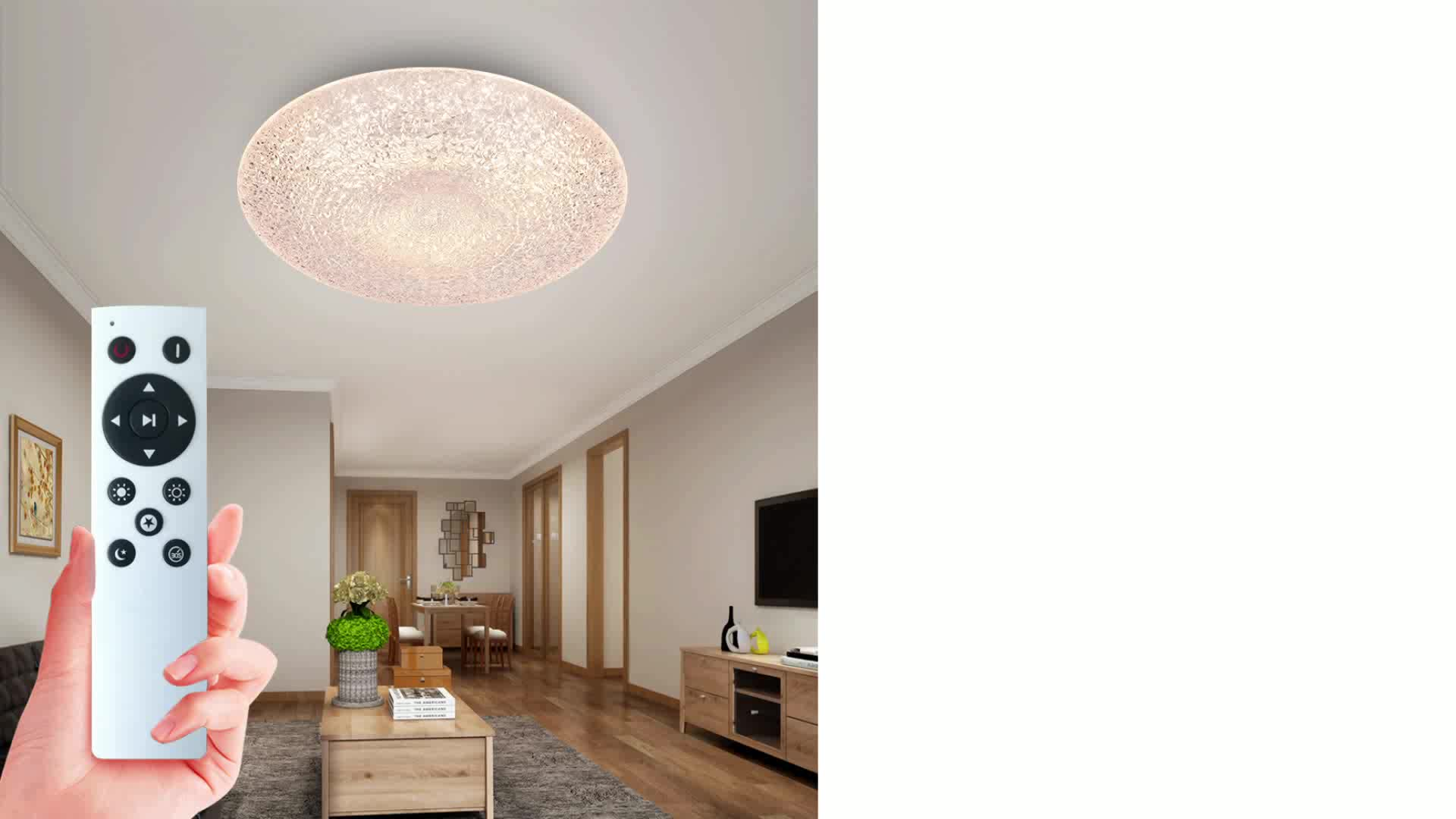 Modern decorative led ceiling lamp bedroom living room dimming 36W 48W 60W round infrared remote control led ceiling light