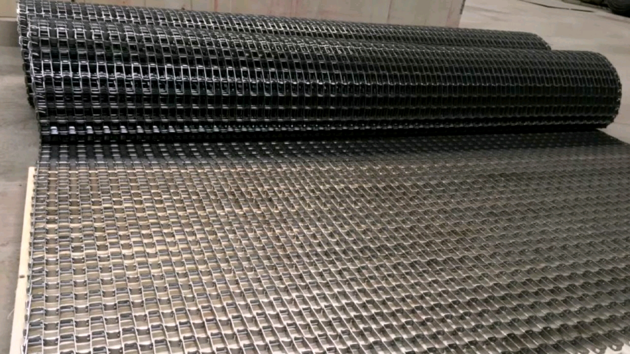 mini types high temperature resistant stainless steel wire mesh honeycomb flat metal wire strip conveyor belts price