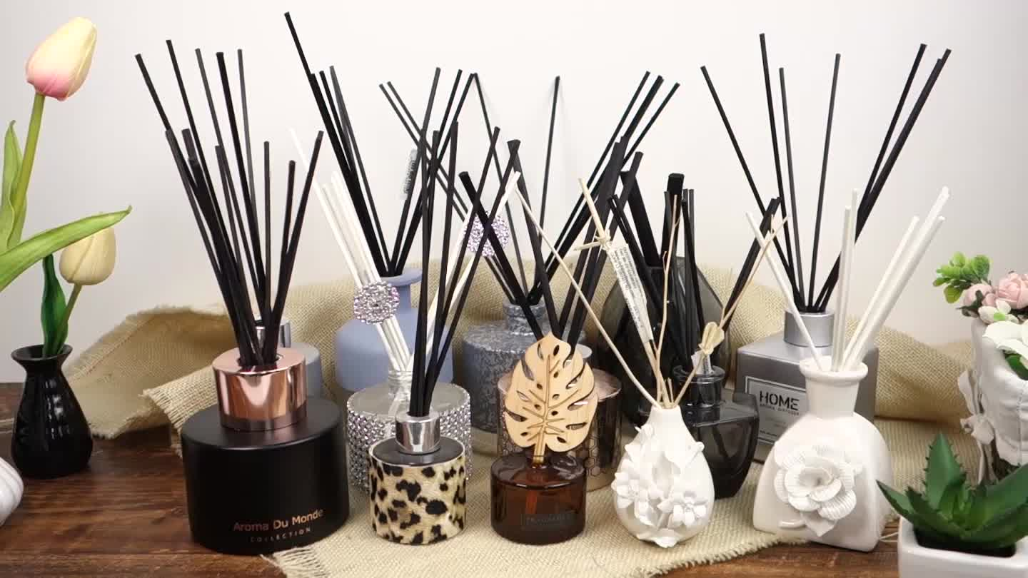 home fragrance luxury Perfume aroma  Reed Diffuser Set with Marble plate and 10ML PET bottle