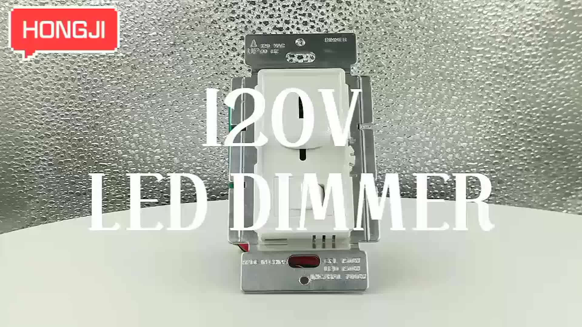 High Quality 120V Three Way LED Dimmer Switch with ETL