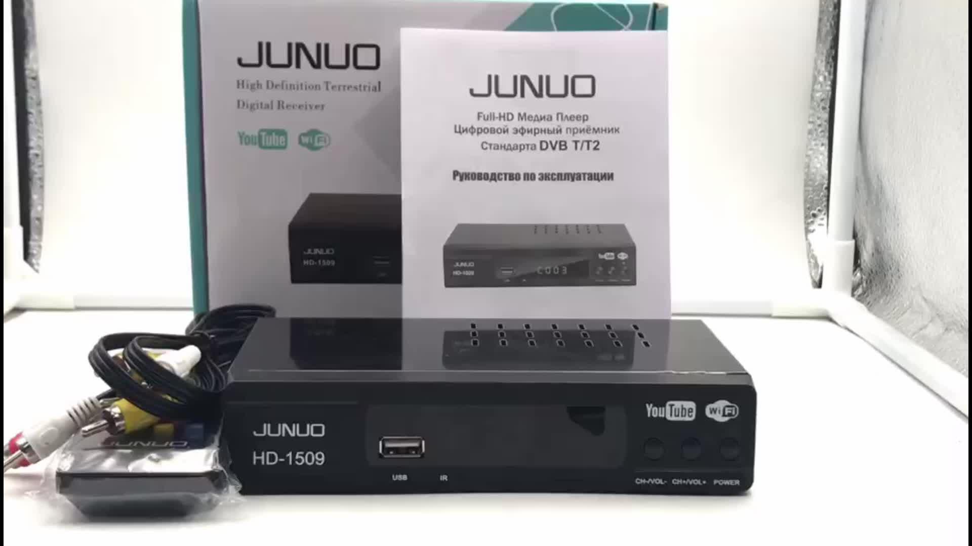 JUNUO wholesale price combo T2+S2 hd fta box for Europe