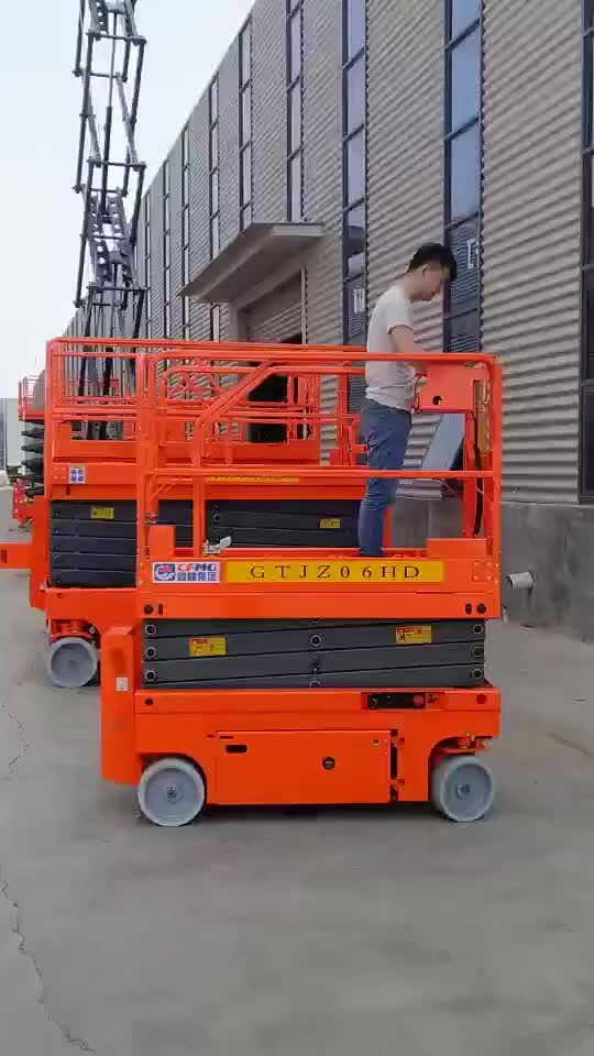 Mobile electric hydraulic aerial work lifting platform