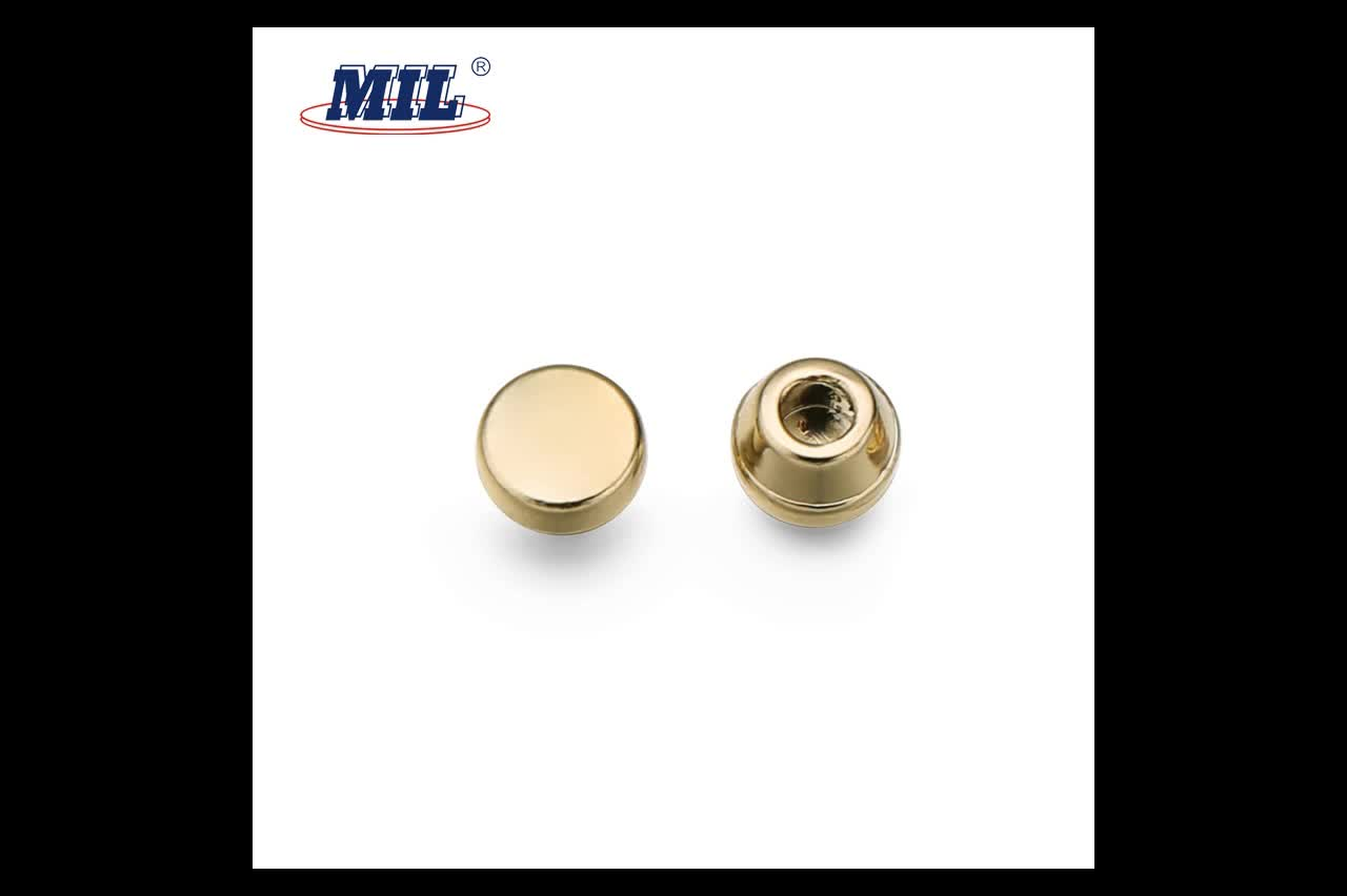 Custom Engraved Zinc Alloy Jeans Rivets Buttons Clothing Rivets For Jean