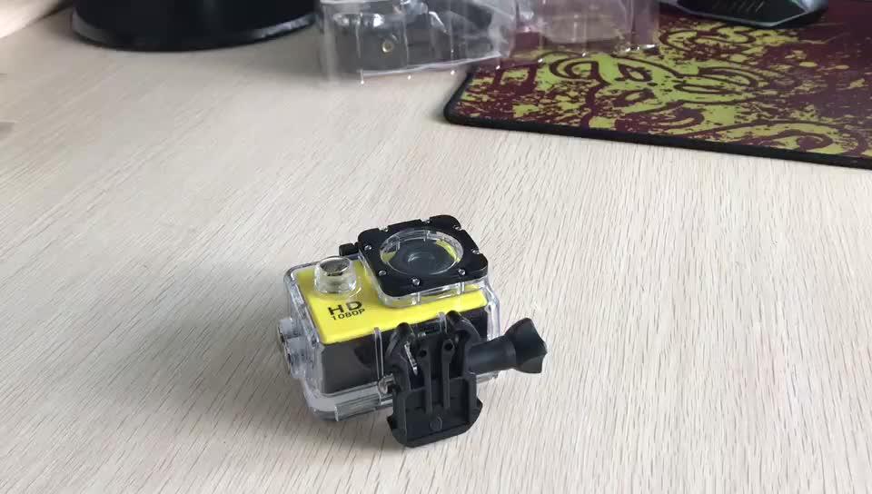 Fabrika satmak Eylem Spor Kamera 1080 P Full HD Kask Sualtı Su Geçirmez Video Spor Kamera mini hd dijital video kamera