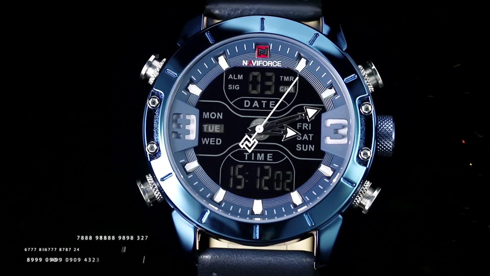 Naviforce 9153L wristwatch 2020 hot sale Top Luxury Brand Quartz Clock men watches navi force watch