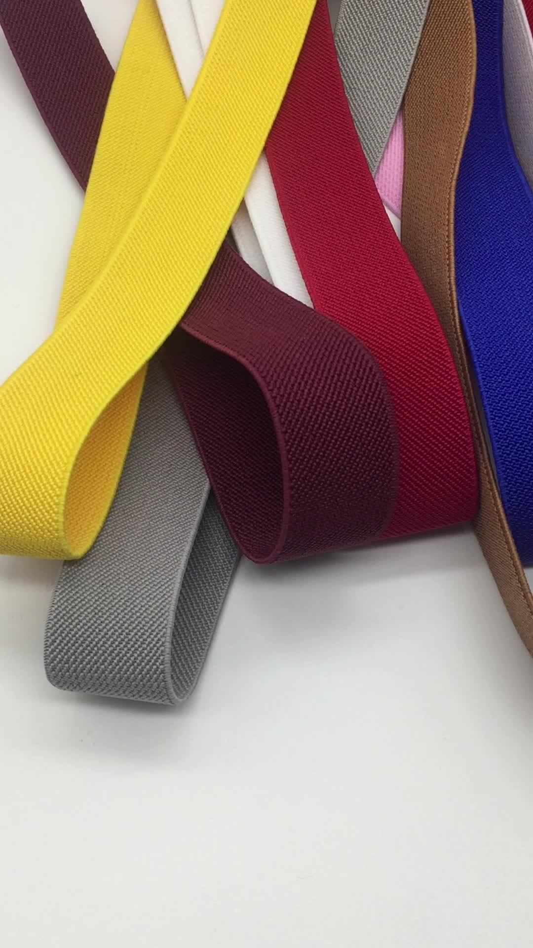 2020 새로운 스타일 25mm 탄성 리본 2cm 맞춤 솔리드 능직 탄성 밴드