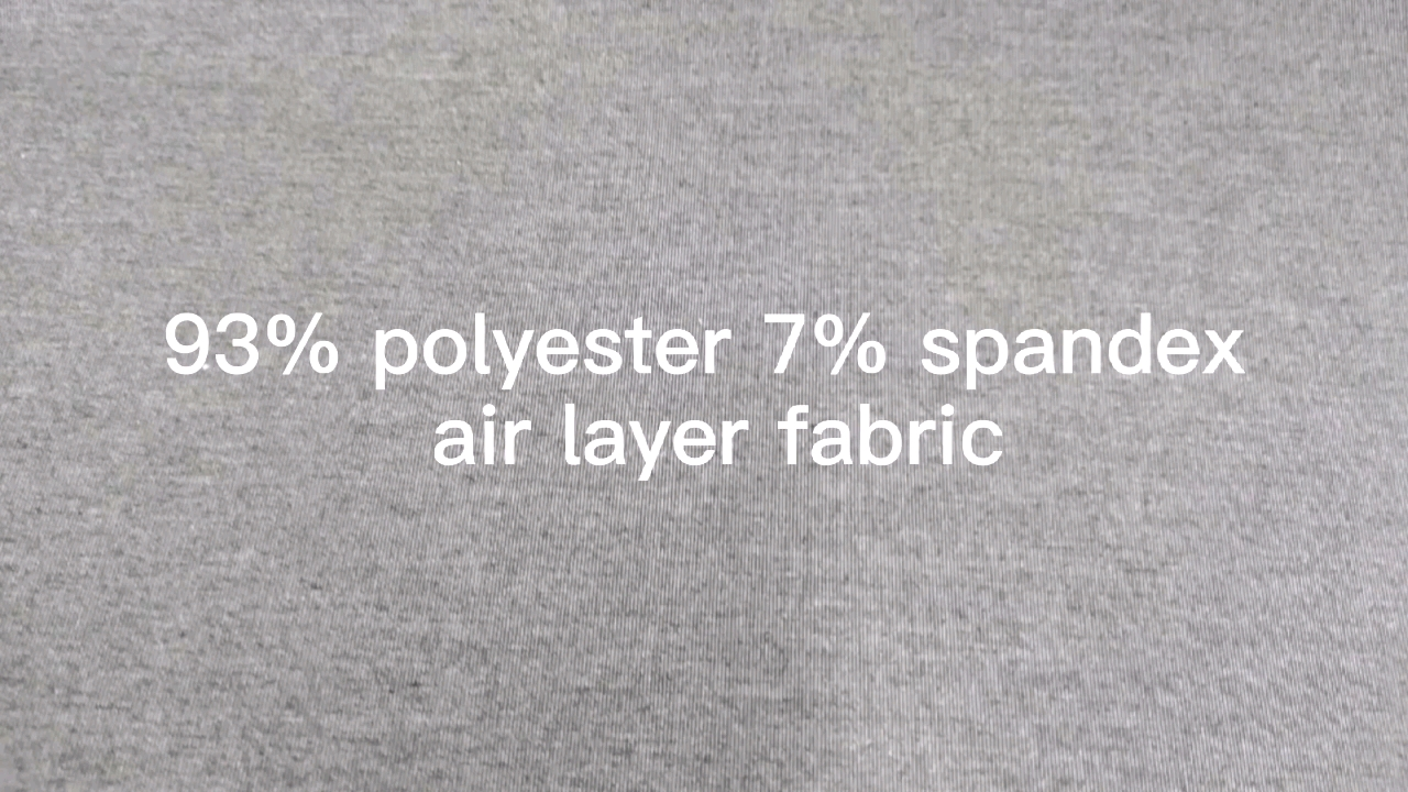 Hot sale 97% polyester 3% spandex air layer fabric-1800290