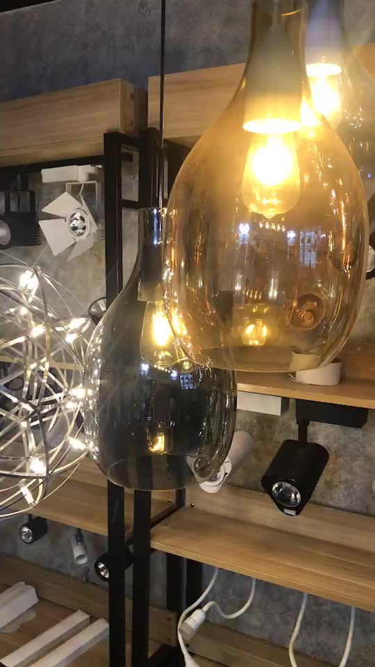 Contemporary latest design modern murano glass bubble colored hanging glass ball chandelier pendant light for hotel lobby