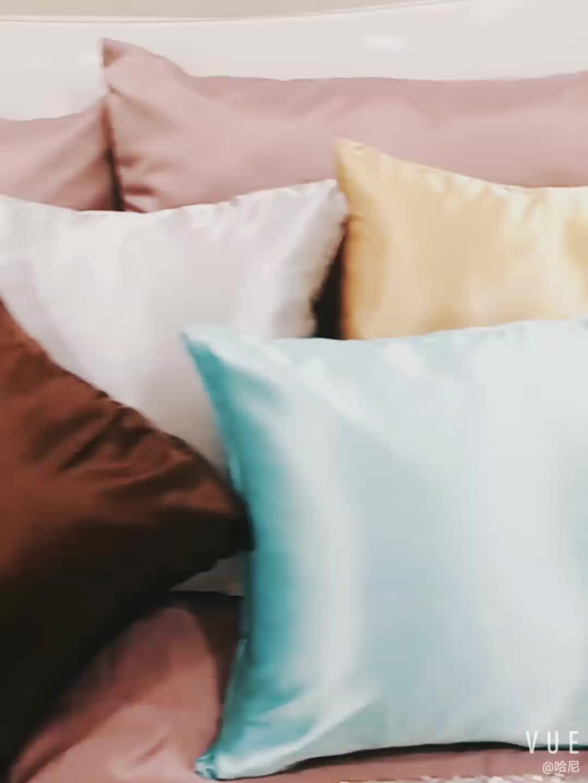 Ipeksi saten yastık kılıfı için saç ve cilt serin süper yumuşak ve lüks yastık kılıfı kapakları ile zarf kapatma