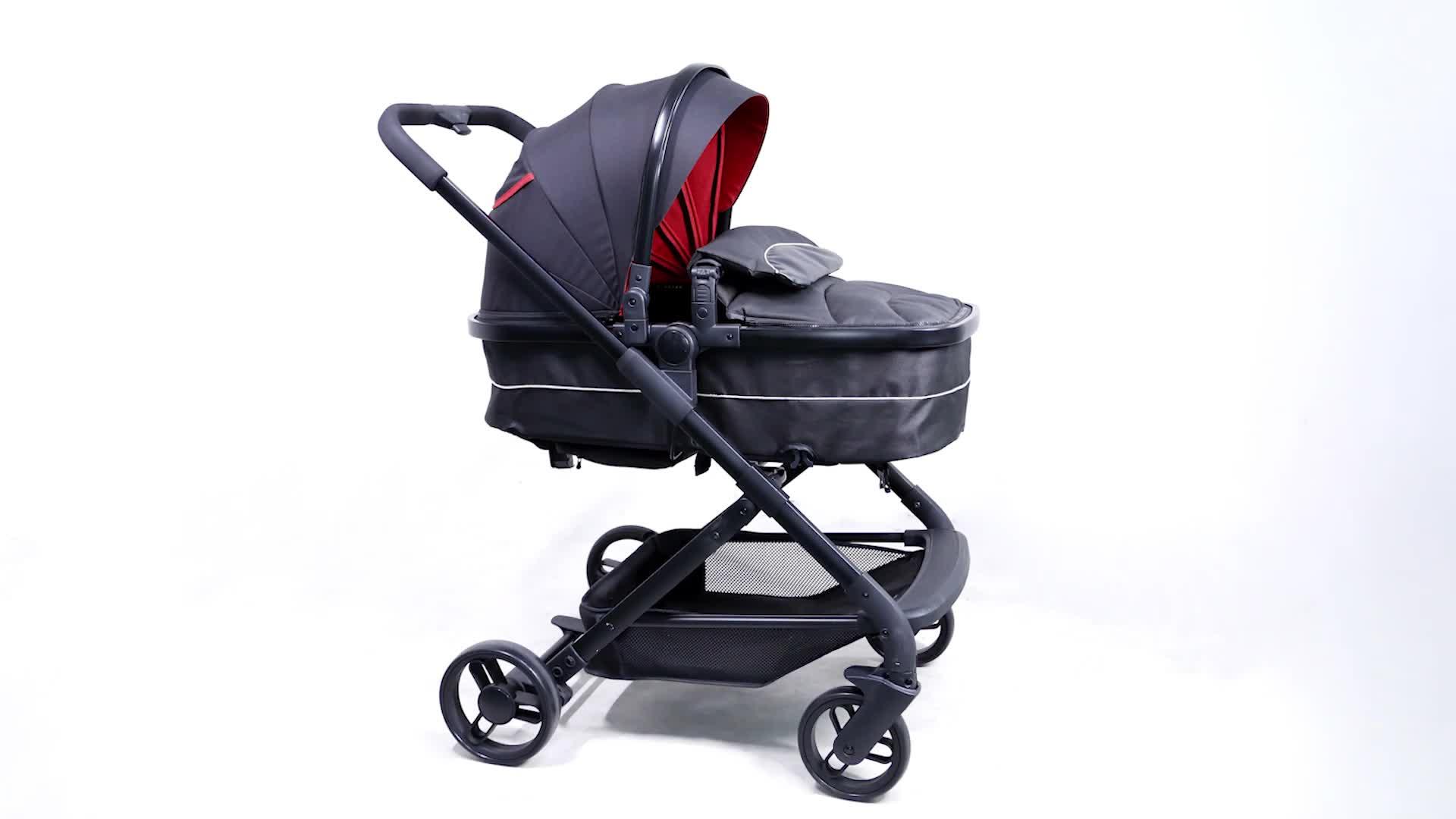 Luxury Aluminum High View Compact Lightweight Baby Stroller