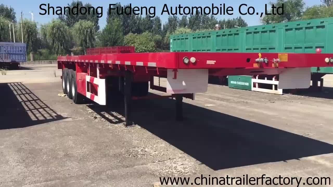 Usine prix tri essieux 35 tonnes capacité sacs cargo semi remorque 40ft conteneur remorque camion