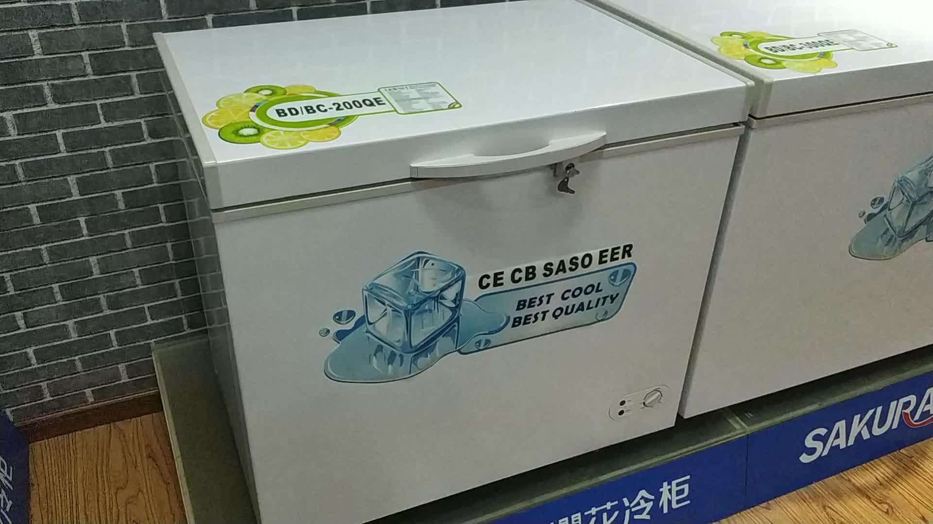 BERING BD/BC-200QE 200L Chest Freezer top open door