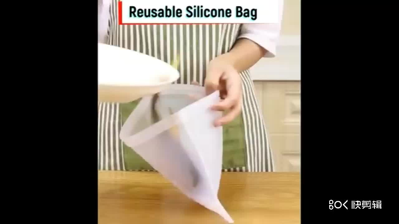 Reusable Silicone Food Storage Bag Leakproof Silicone Bag Silicone Lunch Bag