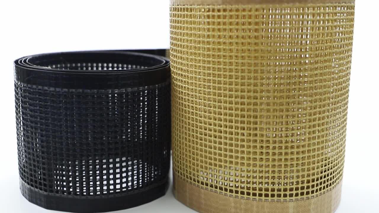 PTFE Teflon Coated Fiberglass Cooking Food Mesh Conveyor Belt Mesh Fabric