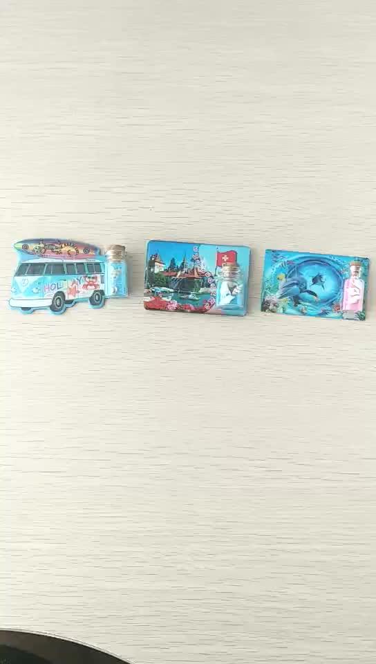 Florida souvenir promozionale magnete spiaggia magnete del frigorifero resina epossidica con shell