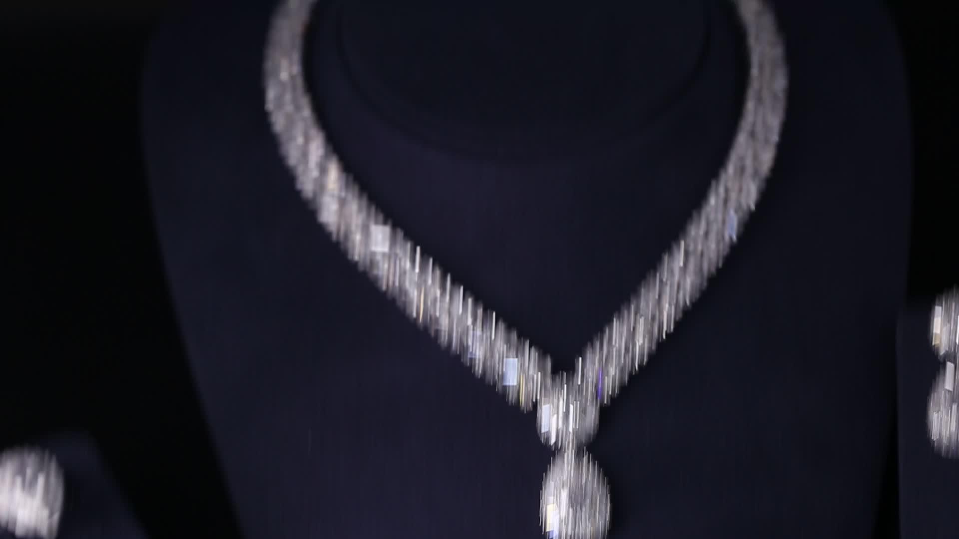 18K Mạ Vàng Đồng Đá Zirconia Zirconia Phụ Kiện Đám Cưới Bộ Trang Sức Cô Dâu