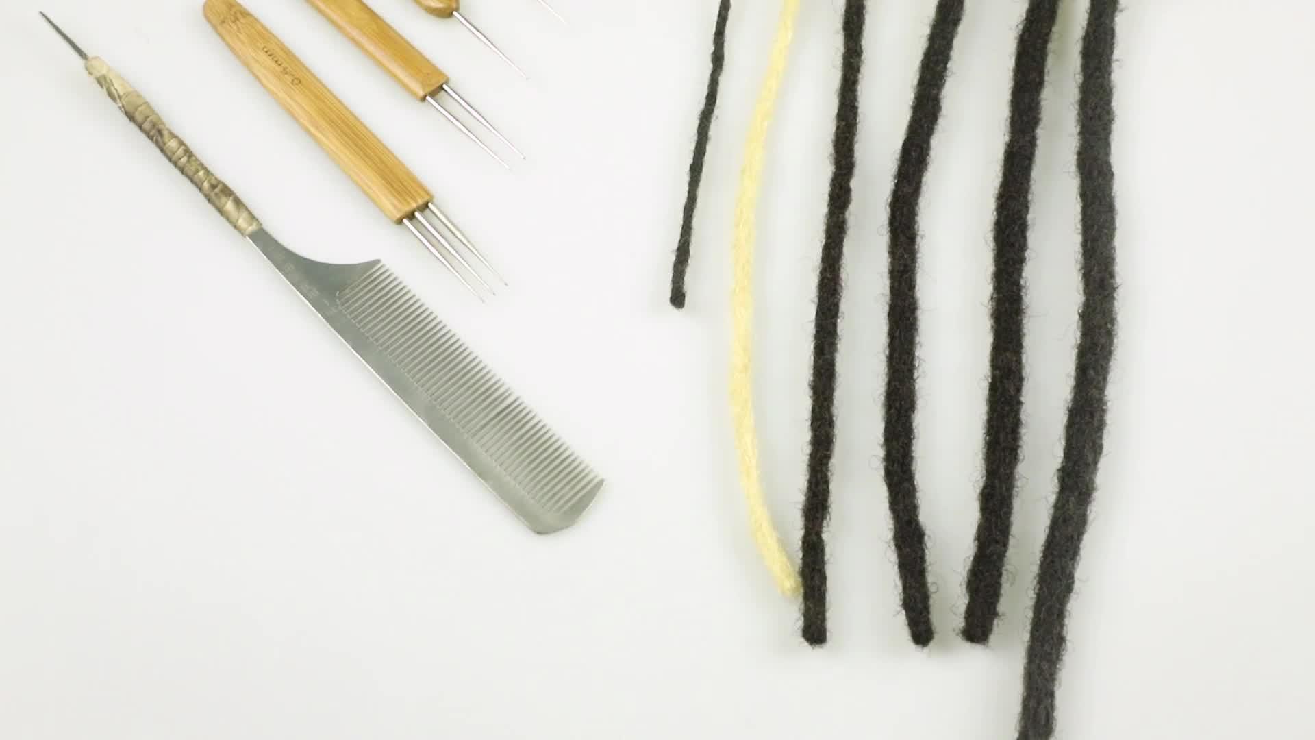 Hoho cheveux 8mm largeur black16 pouces crochet afro crépus cheveux humains