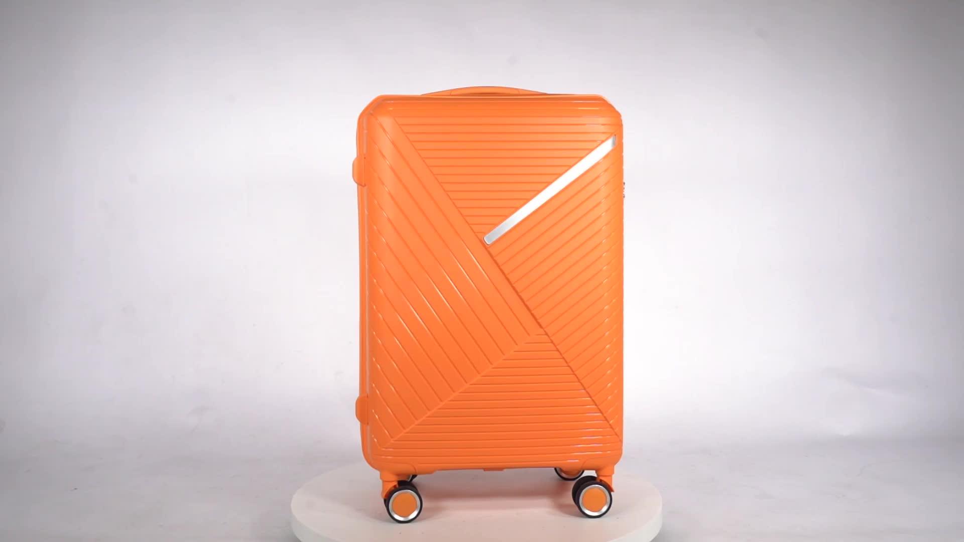 Новый стиль, чемодан для переноски, новый модный дизайн, полипропиленовые багажные комплекты на колесиках для бизнеса/путешествий